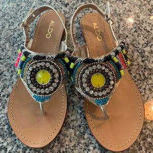 Embellished Aldo sandals
